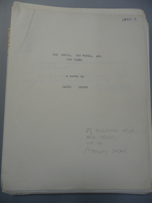 The David Lodge Papers. The Devil, the World and the Flesh Typescript.